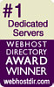 #1 Dedicated Web Hosting Provider Award